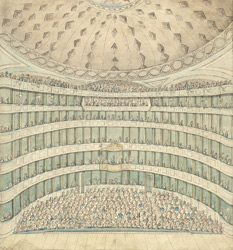 The inside of the King's Theatre Pantheon, 1791